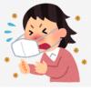 アレルギーでくしゃみ鼻水に苦しむ女性
